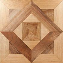 Oak parquet flooring / oiled / wood inlaid