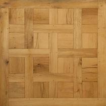 Solid parquet flooring / oak / aged