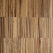Engineered parquet flooring / walnut / oiled / industrial
