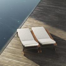 Contemporary sun lounger / garden