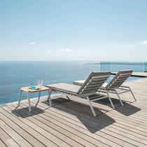 Contemporary sun lounger / aluminum / fabric / garden