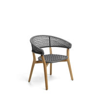 Contemporary garden chair / teak