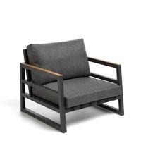 Contemporary armchair / fabric / aluminium / garden