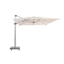 Offset patio umbrella / aluminum / hand crank / with built-in light