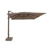 Offset patio umbrella / aluminum / with built-in light / hand crank
