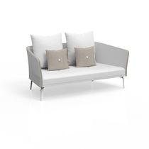 Contemporary sofa / garden / fabric / aluminum