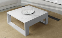Contemporary coffee table / lacquered wood / rectangular