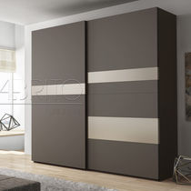 Contemporary wardrobe / melamine / with sliding door