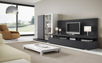 Contemporary TV wall unit / lacquered wood