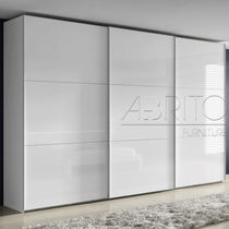 Contemporary wardrobe / melamine / sliding door