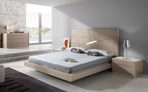 Floating bed / double / contemporary / with headboard