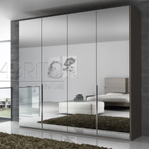 Contemporary wardrobe / melamine / with swing doors / mirrored
