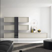 Contemporary living room wall unit / lacquered wood