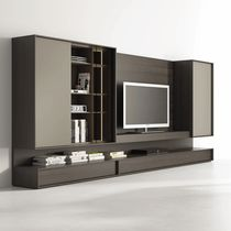 Contemporary living room wall unit / glass