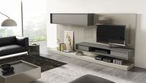 Contemporary multimedia cabinet / modular / lacquered wood