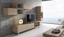 Contemporary TV wall unit / wooden