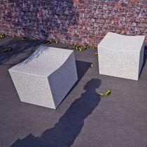 Contemporary stool / granite / for public areas / outdoor