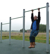Pull-up bar / metal / triple / for fitness trails