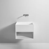 Wall-hung washbasin cabinet / Corian® / contemporary