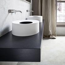 Countertop washbasin / round / composite / contemporary