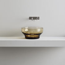 Countertop washbasin / round / Murano glass / contemporary