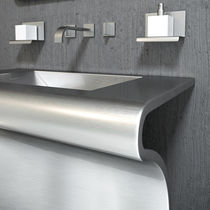 Free-standing washbasin / other shapes / steel / original design