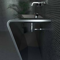 Countertop washbasin / other shapes / stainless steel / original design