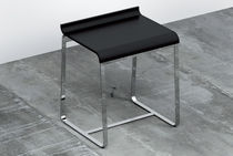 Contemporary stool / stainless steel / black