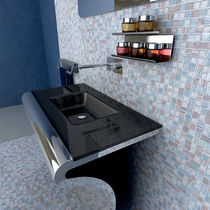 Countertop washbasin / glass / contemporary