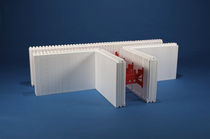 Polystyrene formwork block / for walls / insulating / incombustible
