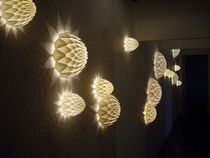 Original design wall light / nylon / halogen / round