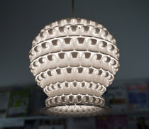 Pendant lamp / contemporary / nylon / halogen