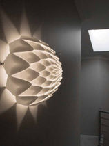 Original design wall light / round / nylon / halogen