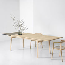 Contemporary table / solid wood / Fenix NTM® / rectangular