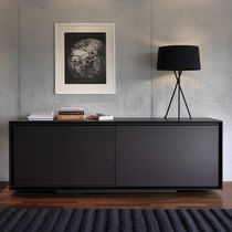 Contemporary sideboard / wooden / with shelf
