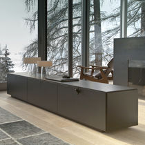 Contemporary sideboard / wooden / black