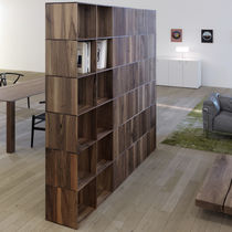 Room divider bookcase / contemporary / solid wood