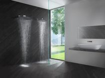 Wall-mounted shower head / round / rain