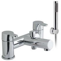 Bathtub mixer tap / shower / chromed metal / bathroom