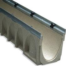 Public space drainage channel / polymer / concrete / sloped