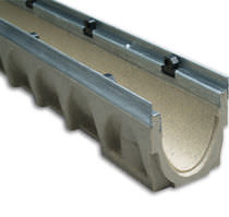 Street drainage channel / concrete / polymer / with grating
