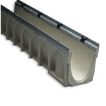 Street drainage channel / polymer / concrete / sloped