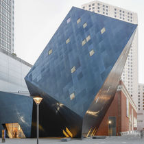 Stainless steel cladding / reflective / panel / blue