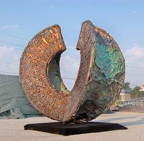 Steel sculpture / copper / aluminum / for public spaces