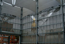 Aluminum solar shading / for facades / perforated