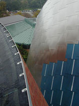Stainless steel cladding / metal / reflective / panel