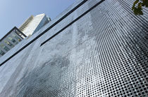 Sheet metal cladding / stainless steel / perforated / panel