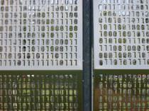 Aluminum cladding / stainless steel / perforated / panel