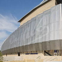 Stainless steel solar shading / for facades / perforated