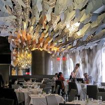 Aluminum suspended ceiling / panel / decorative / printed